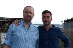 El presidente de Arsat, Dr. de Loredo y Guillermo Schmid, gerente de Netcomm Argentina